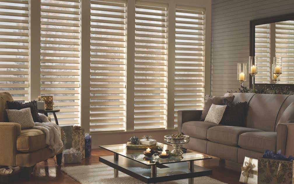 hunter douglas blinds christmas living room